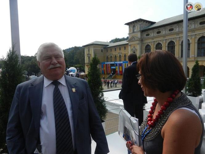 XXII Forum Ekonomicznego Krynica-Zdrój - Lech Wałęsa z Panią Julitą Bancewicz - 04 Września 2012