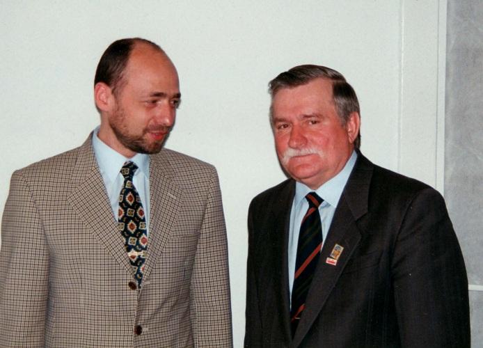 Markus Jankowicz trifft den ehemaligen polnischen Präsidenten Lech Wałęsa 09.08.1995